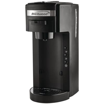 Black Single Serve Coffe Maker with Stainless Steel Coffee Mug