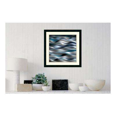 24 in. W x 24 in. H 'Undulation 1A' by J.P. Clive Printed Framed Wall Art