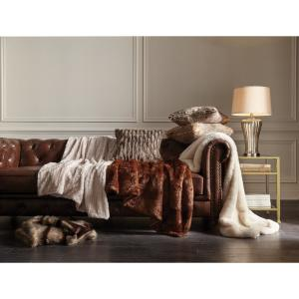 2a2475aca8 Internet  205804280. +4. Lavish Home Brown Luxury Long Haired Faux Fur Throw