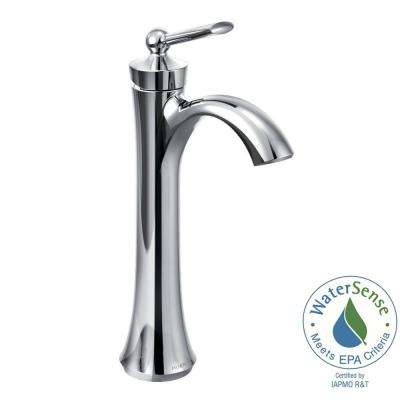 Wynford Single Hole Single-Handle Vessel Bathroom Faucet in Chrome
