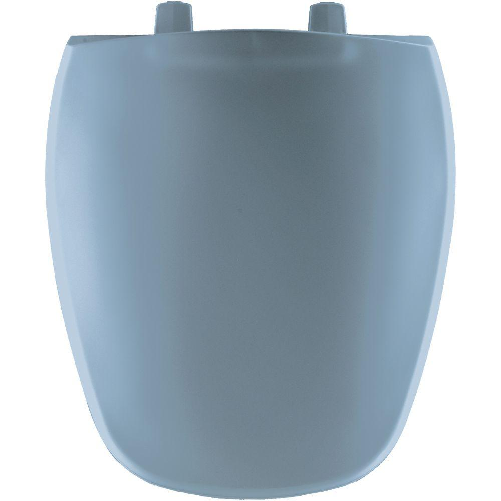 Bemis Round Closed Front Toilet Seat In Glacier Blue 124