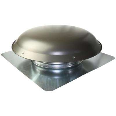 25 in. x 10 in. Galvanized Steel Static Vent in Gray