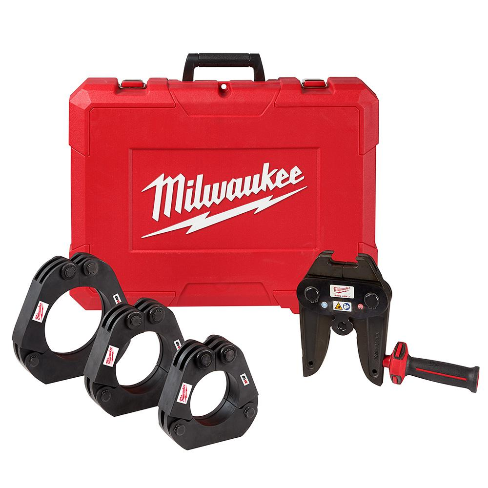 Milwaukee Milwaukee 2-1/2 in. to 4 in.Iron Pipe LPS XL Rings M18 Press Tool Jaw Kit for Mega Press XL Fittings