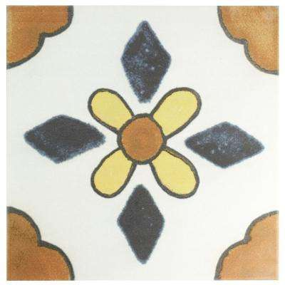 Hand Painted X Ceramic Tile Tile The Home Depot - 12x12 painted ceramic tile