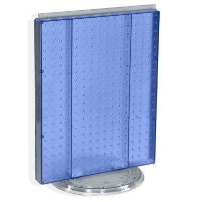 20.25 in. H x 16 in. W Revolving Pegboard Counter Display Blue