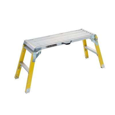 3 ft. Fiberglass Mini Working Platform with 300 lb. Load Capacity Type IA Duty Rating
