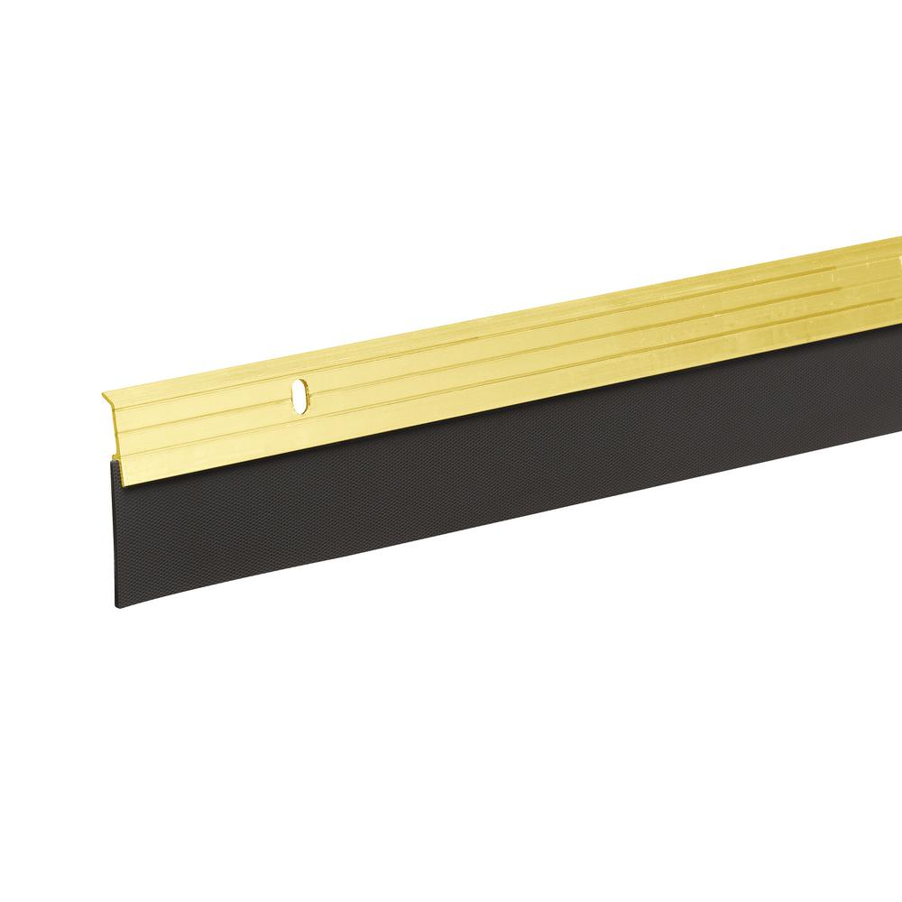 FrostKing Frost King E/O 2 in. x 36 in. Brite Gold Reinforced Rubber Door Sweep, Gold tone