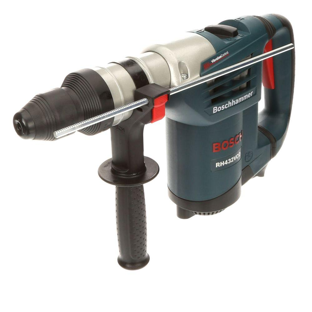 bosch 8 5 amp corded 1 1 4 in sds plus variable speed rotary hammer drill with auxiliary handle. Black Bedroom Furniture Sets. Home Design Ideas