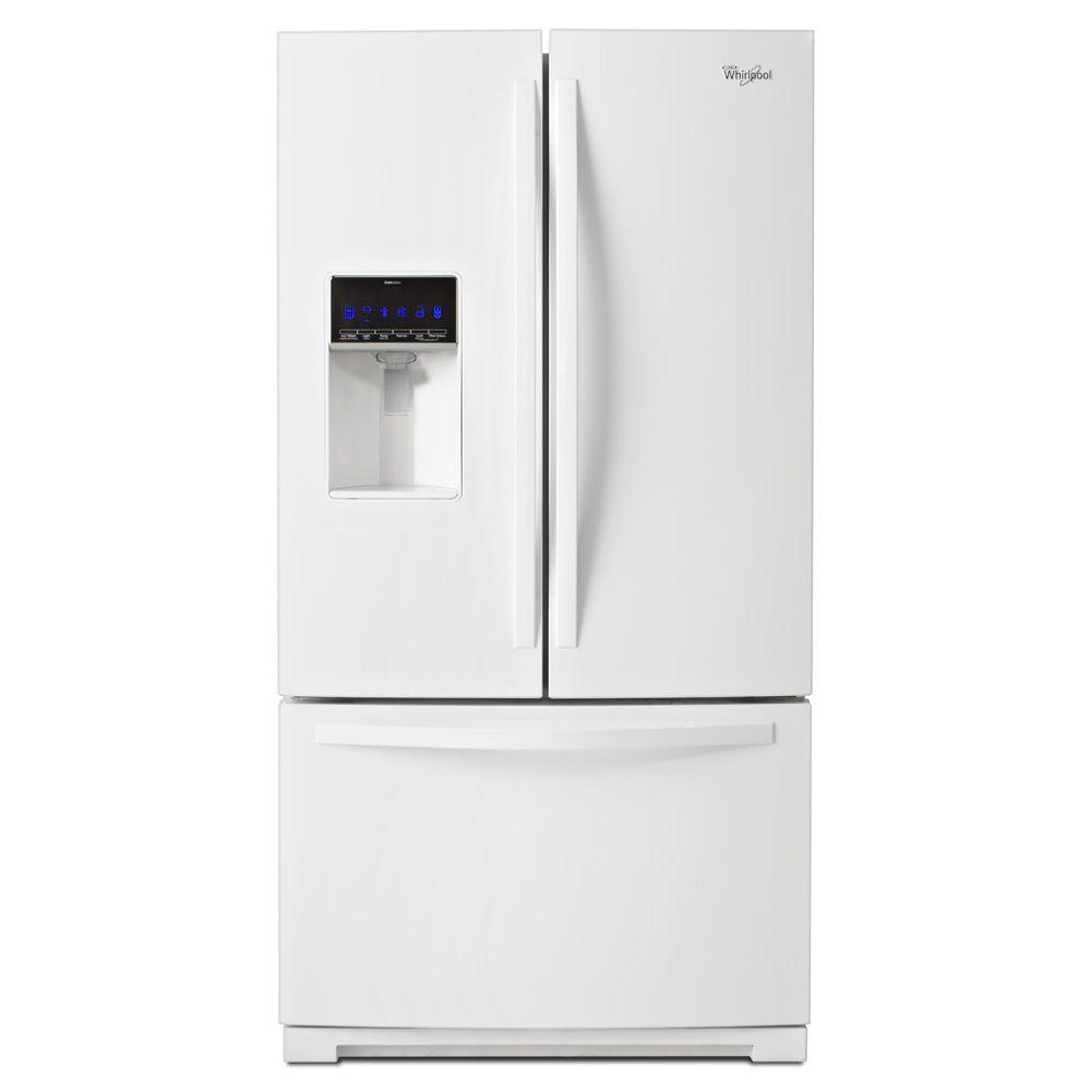 Whirlpool 36 in. W 24.7 cu. ft. French Door Refrigerator in White