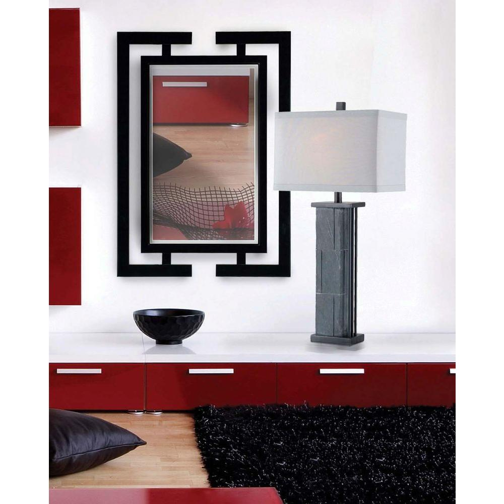 Manor Brook Confucius 41 in. H x 29 in. W Wood Framed Mirror
