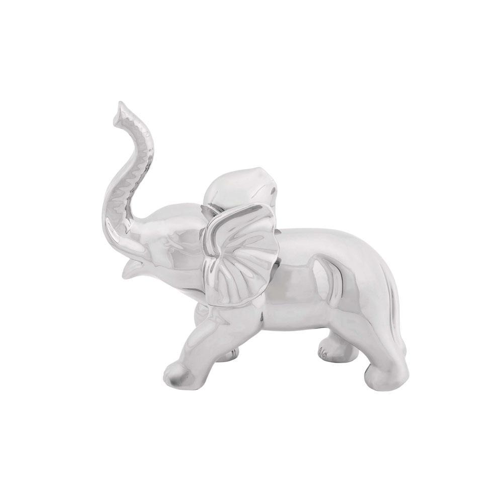 Standing Elephant Ceramic Sculpture