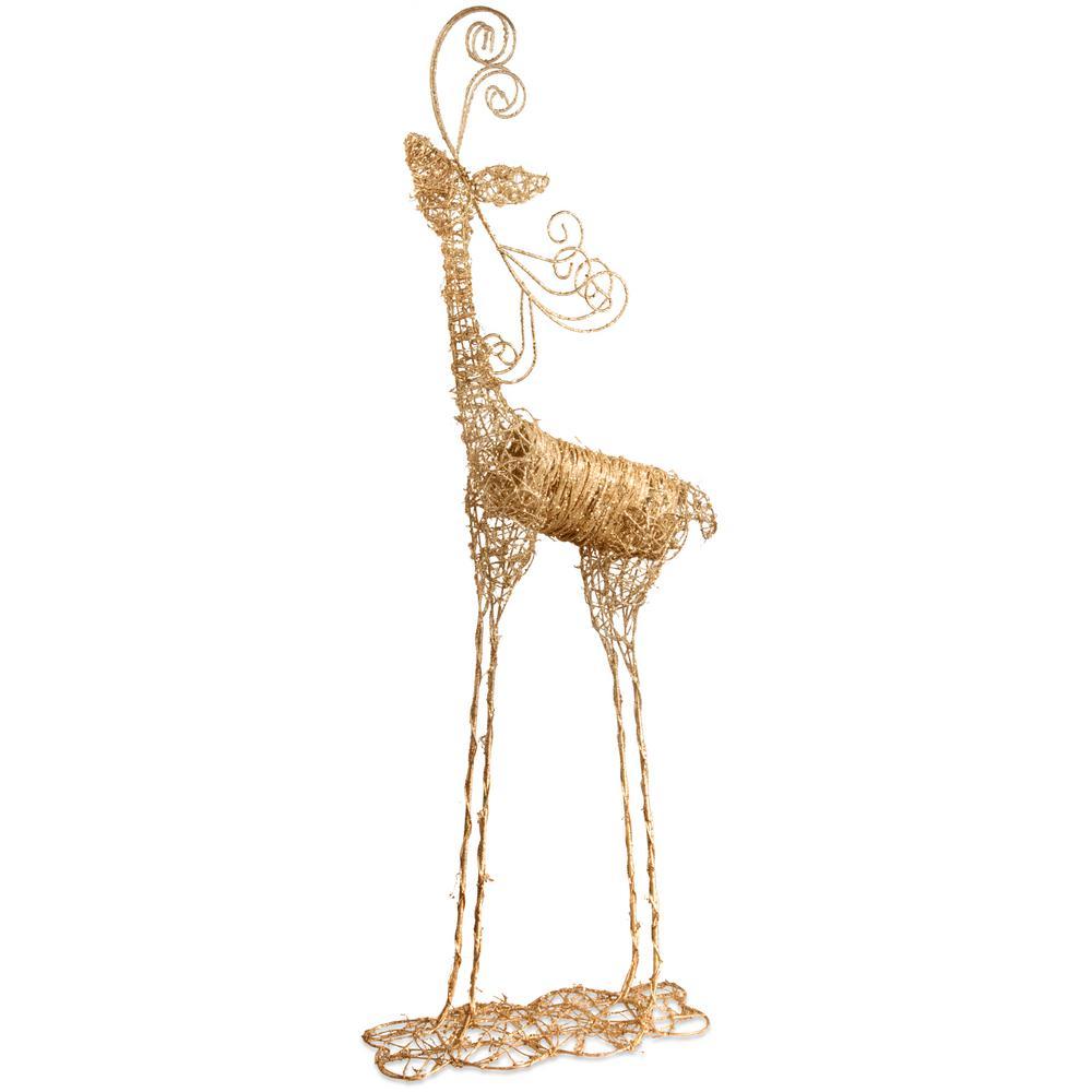 51 in. Rattan Reindeer