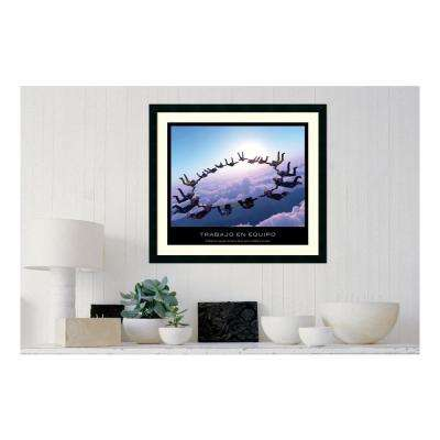 30.25 in. W x 27.13 in. H Trabajo en equipo' Printed Framed Wall Art