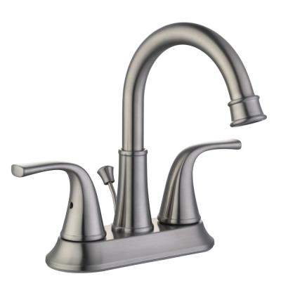 Bettine 4 in. Centerset 2-Handle High-Arc Bathroom Faucet in Brushed Nickel
