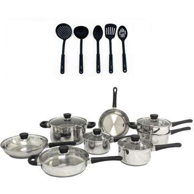 19-Piece CooknCo Cookware Set