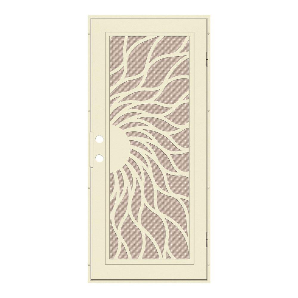 Unique Home Designs 36 in. x 80 in. Sunfire Beige Hammer Right-Hand ...