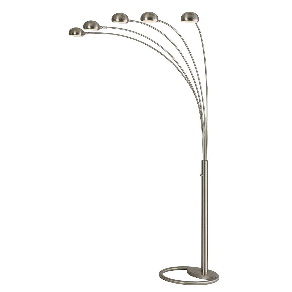 Nova mushroom 87 in arc lamp with 5 lights 4231rx the home depot arc lamp with 5 lights aloadofball Choice Image