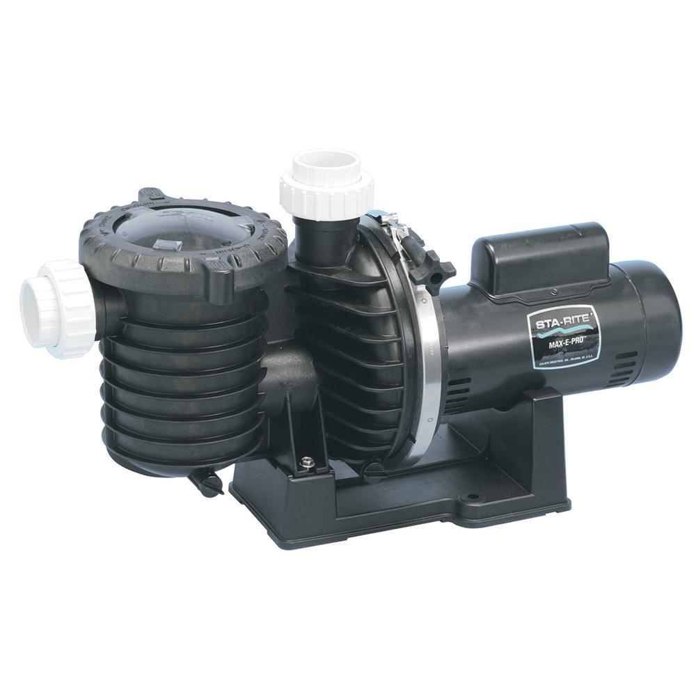 Sta Rite Max E Pro 1 HP Single Speed Pool Pump P6E6F207L   The Home Depot