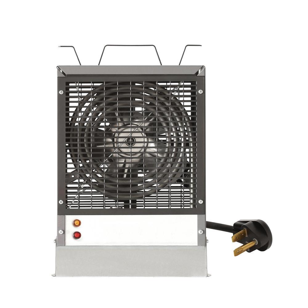 4800-Watt Electric Fan-Forced Enclosed Motor Construction Heater in Grey