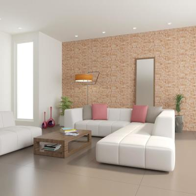 Montecarlo Gold Brick Spaccato Peel and Stick 3D Effect Self Adhesive DIY Wallpaper