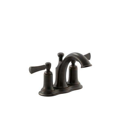 Elliston 4 in. Centerset 2-Handle Bathroom Faucet with Drain in Oil-Rubbed Bronze