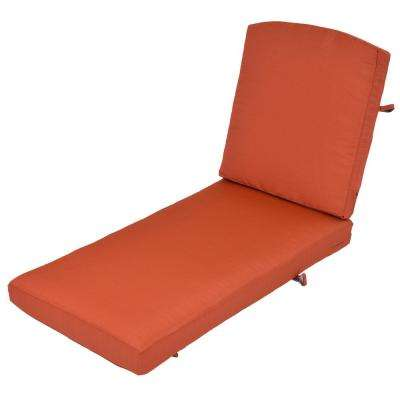 Oak Cliff Quarry Red Replacement 2-Piece Outdoor Chaise Lounge Cushion