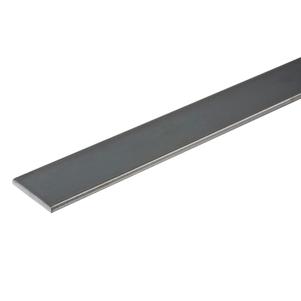 Everbilt 1-1/2 in. x 48 in. Plain Steel Flat Bar with 3/16 in. Thick