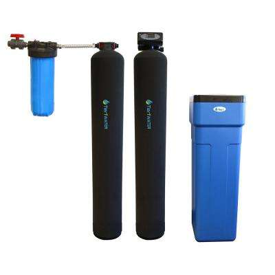 Series 10000 Carbon and KDF Water Filtration System with 48,000 Grain Capacity Water Softener System