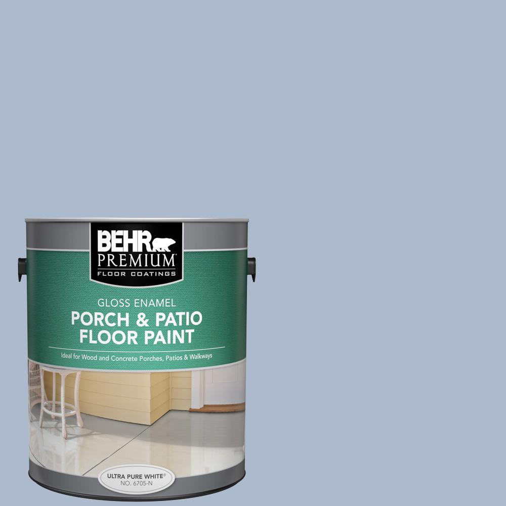 BEHR Premium 1 gal. #PPU15-16 Simply Blue Gloss Enamel Interior/Exterior Porch and Patio Floor Paint