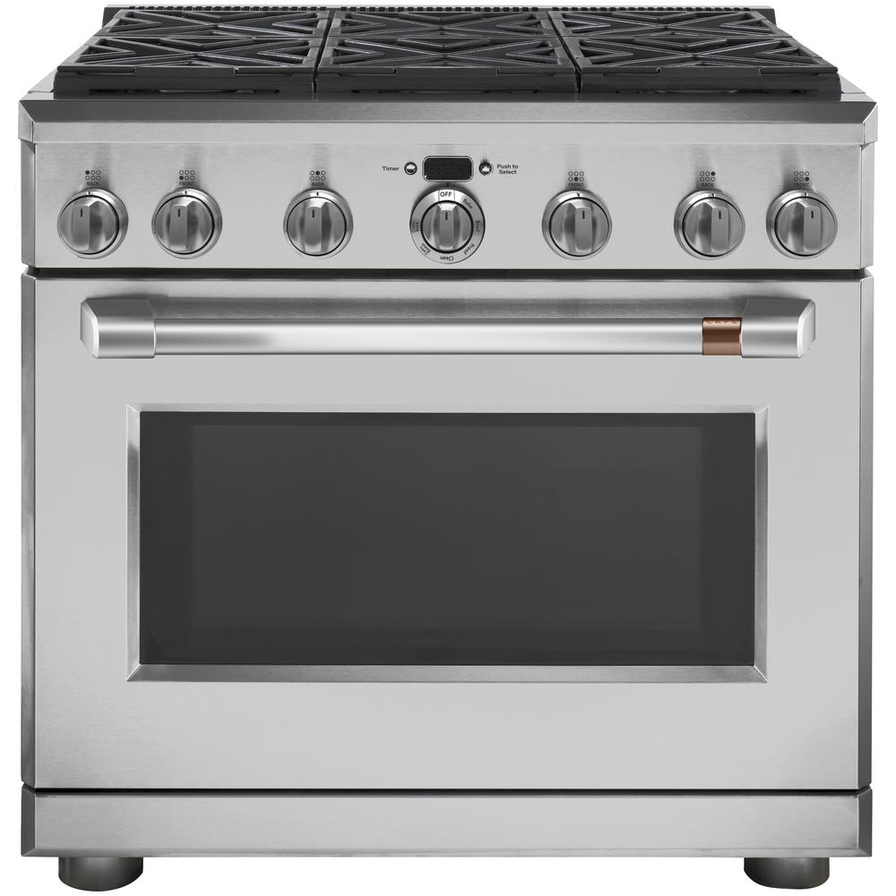 36 in. 6.2 cu. ft. Gas Range with Self-Cleaning Convection Oven