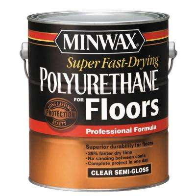 1 gal. Clear Semi-Gloss Super Fast-Drying Polyurethane for Hardwood Floors (2-Pack)