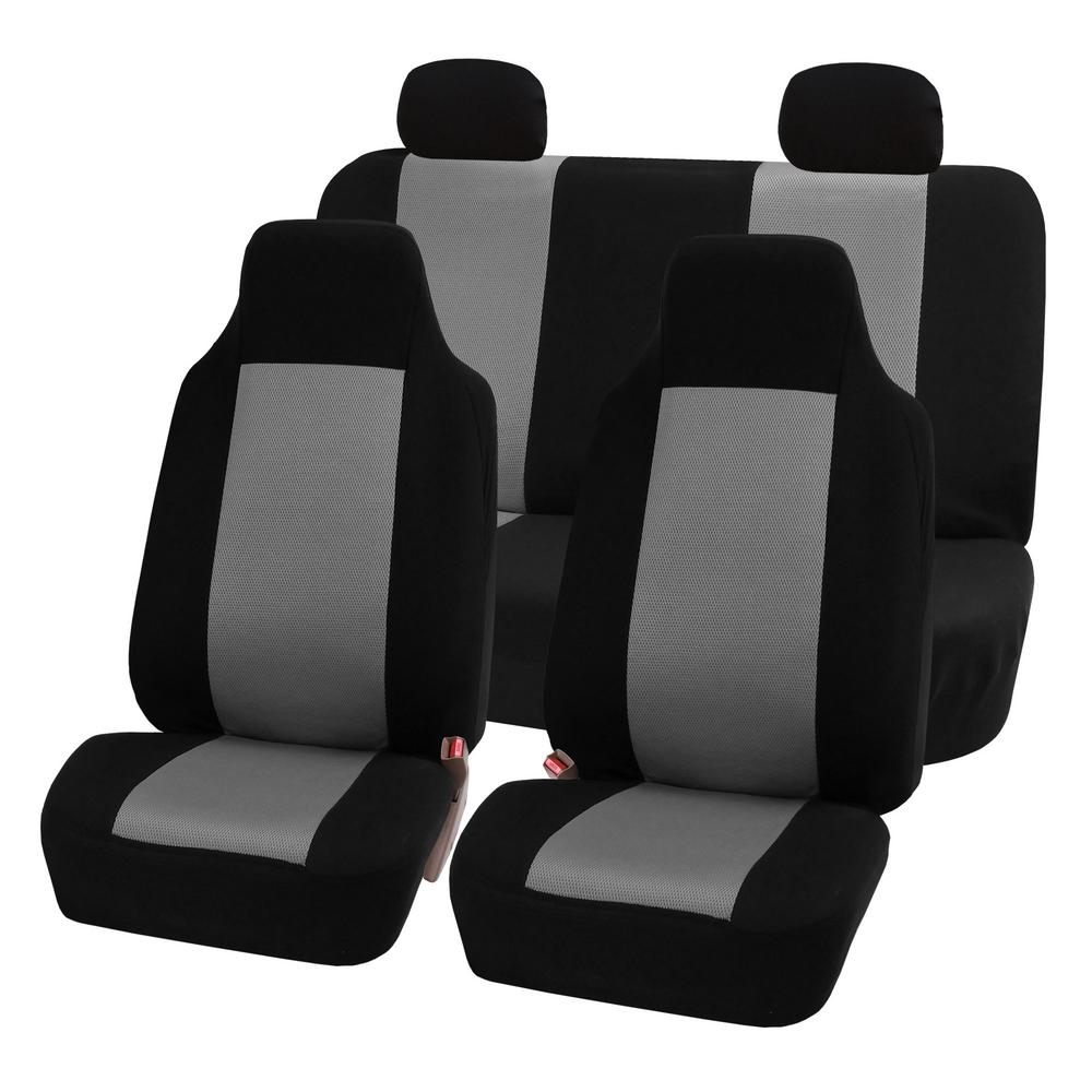 FH Group Sandwich Fabric 47 in. x 23 in. x 1 in. Full Set Seat Covers