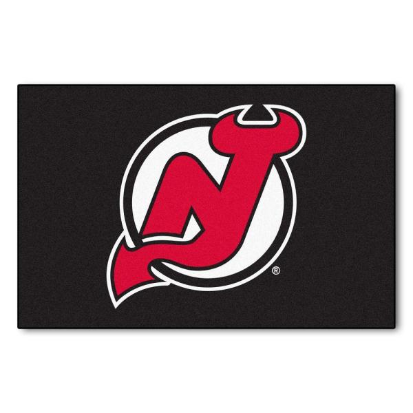 NHL New Jersey Devils Red 1 ft. 7 in. x 2 ft. 6 in. Rectangular Area Rug