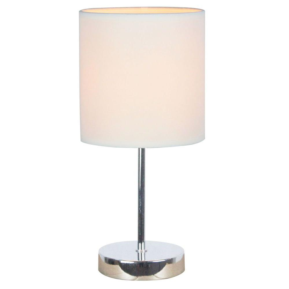Simple Designs 1189 In Chrome Mini Basic Table Lamp With