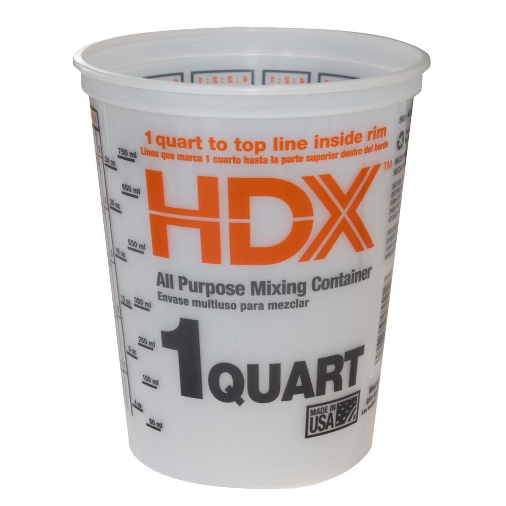 Hdx Versa Tainer 1 Qt Plastic Bucket Rg512 The Home Depot