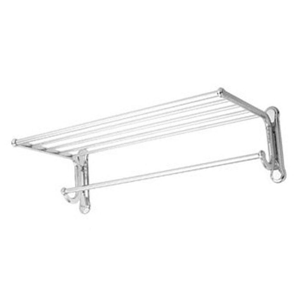 USE Dover Shelf with Towel Bar in Polished Chrome-DISCONTINUED