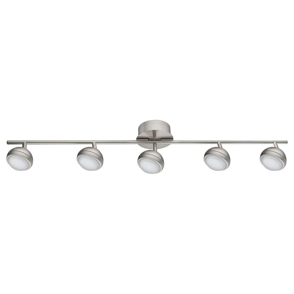 Eglo Lombes 1 3 Ft 5 Light Matte Nickel Led Track Lighting