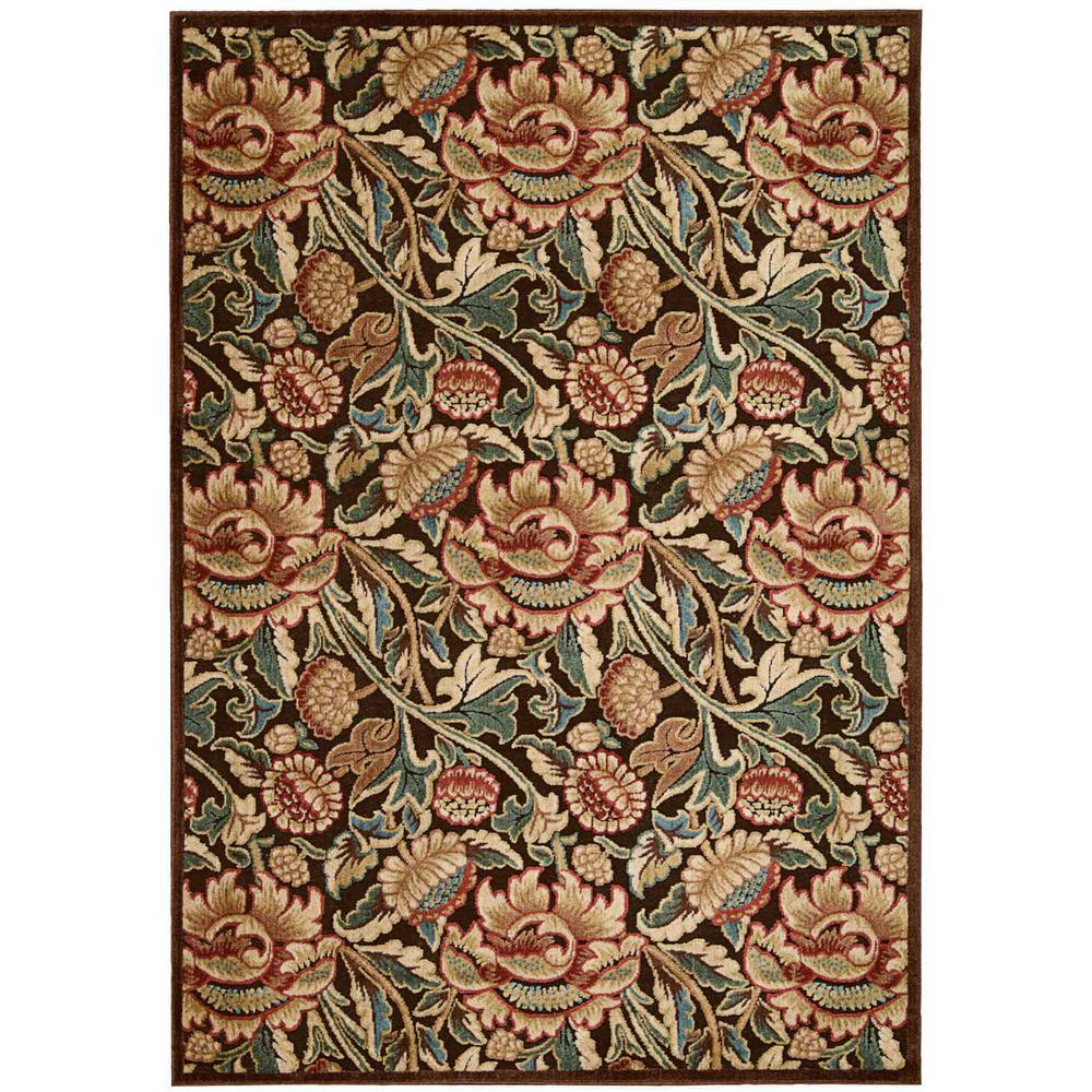 Nourison Graphic Illusions Brown 7 Ft 9 In X 10 Ft 10
