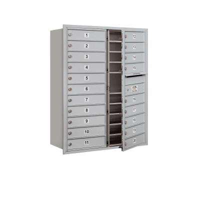 41 in. H x 31-1/8 in. W Aluminum Front Loading 4C Horizontal Mailbox with 20 MB1 Doors