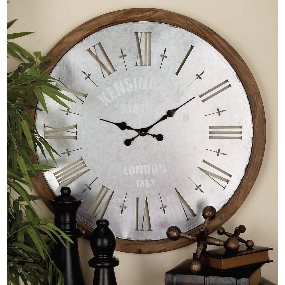 32 in kensington station round wall clock 54748 the home depot kensington station round wall clock 54748 the home depot amipublicfo Images