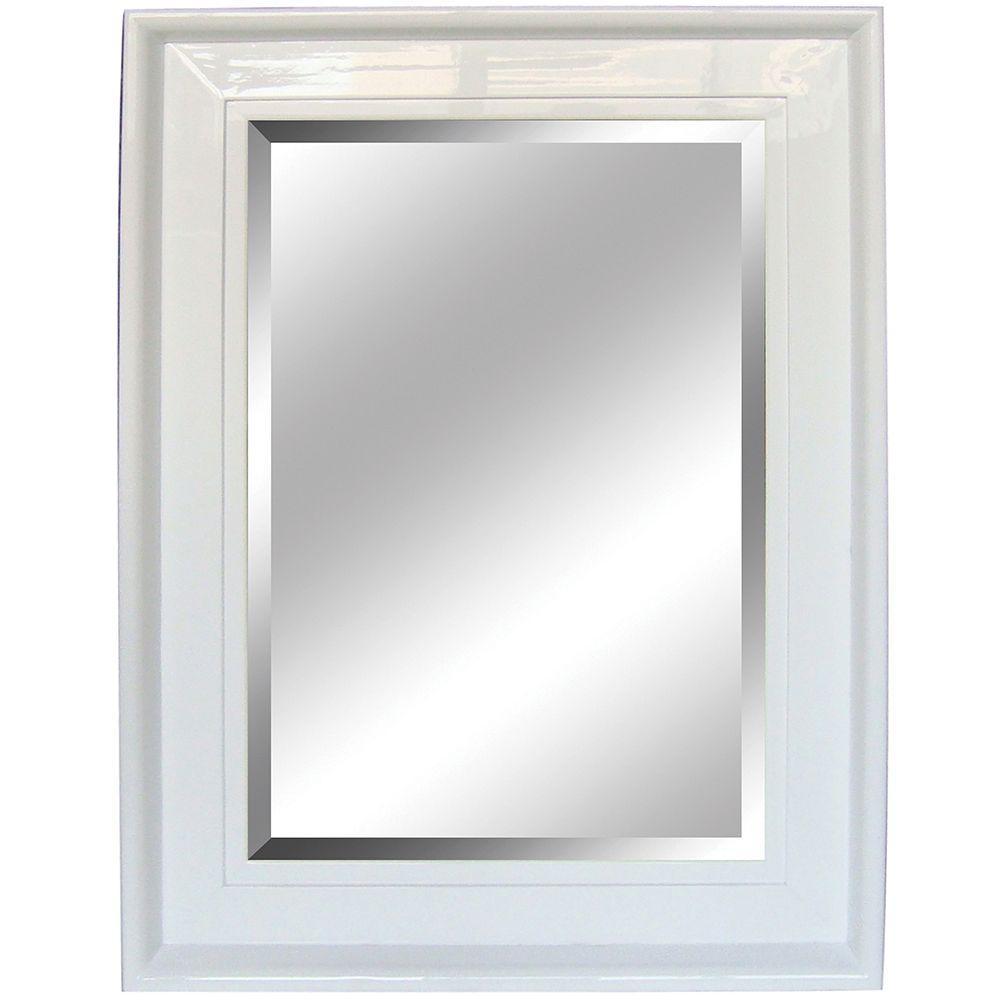 Yosemite Home Decor 34 in. x 46 in. Rectangular Decorative White Framed Mirror