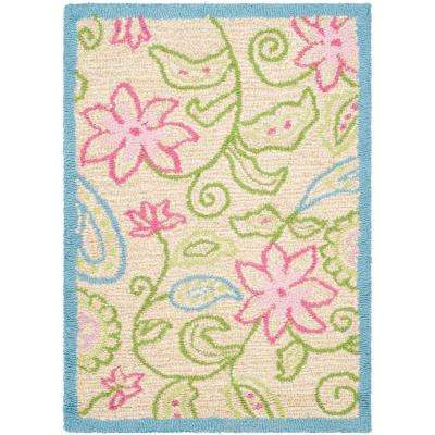 Kids Ivory/Blue 2 ft. x 3 ft. Area Rug