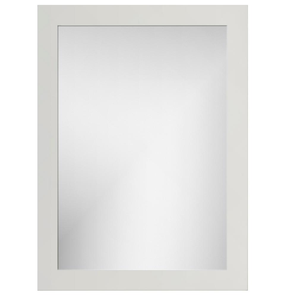 24 in. W x 32 in. H Framed Rectangular Bathroom Vanity Mirror in Dewy Morning