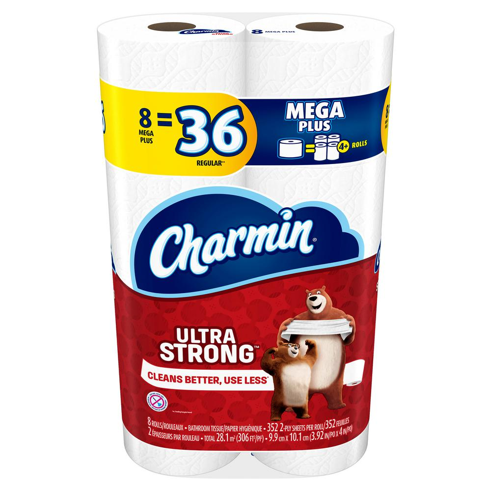 Charmin Ultra Strong Toilet Paper 8 Mega Plus Rolls