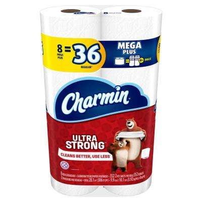 Ultra-Strong Toilet Paper (8-Mega Plus Rolls)
