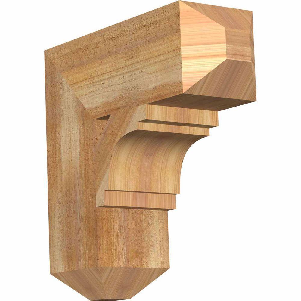 Ekena Millwork 6 in. x 18 in. x 18 in. Western Red Cedar Merced Craftsman Rough Sawn Bracket
