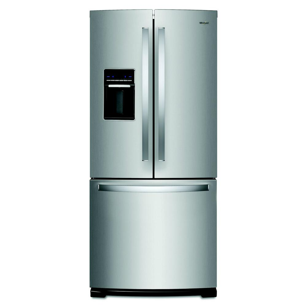 Whirlpool 20 Cu Ft French Door Refrigerator In Fingerprint Ice Maker Parts Diagram Further Resistant Stainless Steel