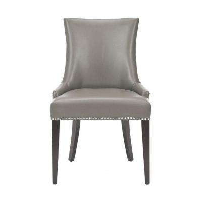 Becca Grey Leather Side Chair (Set of 2)