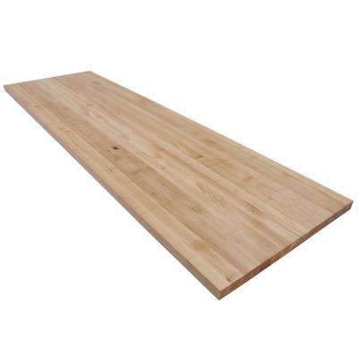 7 ft. L x 2 ft. 1 in. D x 1.5 in. T Butcher Block Countertop in Finished Maple