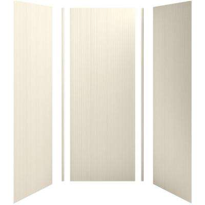 Choreograph 36 in. x 36 in. x 96 in. 5-Piece Shower Wall Surround in Almong with Cord Texture for 96 in. Showers